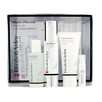 Elizabeth ArdenVisible Difference Set (For Oily Skin): 4pcs