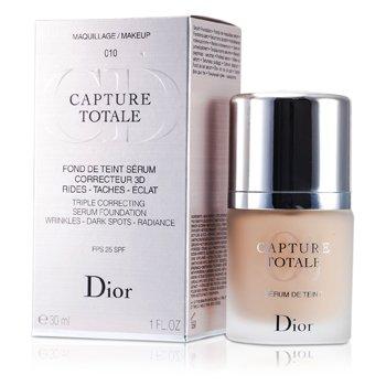 Christian Dior Capture Totale Triple Correcting Serum Foundation SPF25 - # 010 Ivory  30ml/1oz