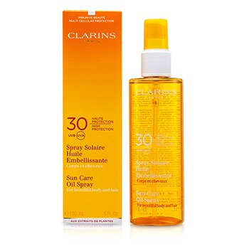 Clarins Солнцезащитное Масло Спрей SPF 30 для Тела и Волос 150ml/5oz