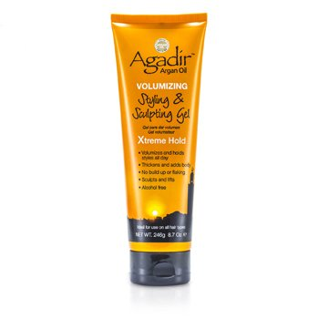 Agadir Argan Oil Volumizing Styling & Sculpting Gel - Xtreme Hold (For All Hair Types)  246g/8.7oz