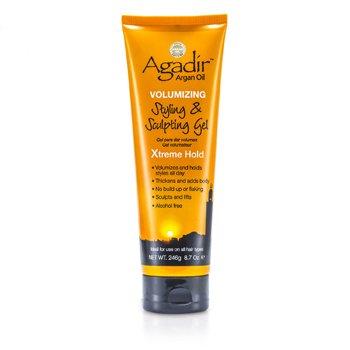 Agadir Argan Oil Volumizing Styling & Sculpting Gel - Xtreme Hold (For All Hair Types)  246g/8.7oz