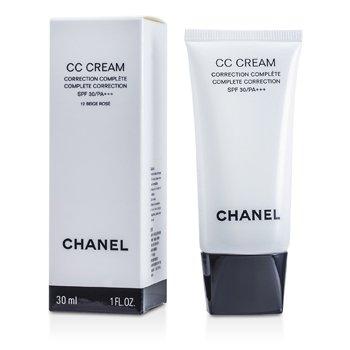 ChanelCrema CC Correcci�n Completa SPF 30 / PA+++ # 12 Beige Rose 30ml/1oz