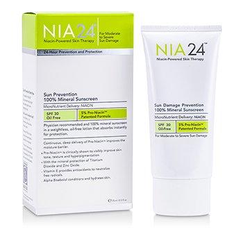 NIA24  NIA24 100%矿物质阳光损伤防晒乳SPF30(无油) 75ml/2.5oz