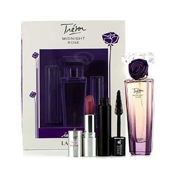 LancomeBộ Tresor Midnight Rose: Eau De Parfum Spray 30ml/1oz + Mascara + Son M�i 3pcs