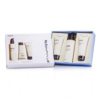 Ahava Deadsea Water Body Trio: Mineral Hand Cream 100ml + Mineral Body Lotion 250ml + Mineral Foot Cream 100ml 3pcs