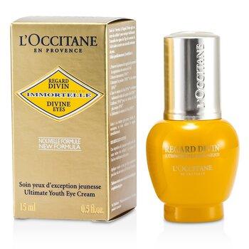 L'Occitane Immortelle Divine Eyes Ultimate Youth Eye Cream - Krim Mata  15ml/0.5oz