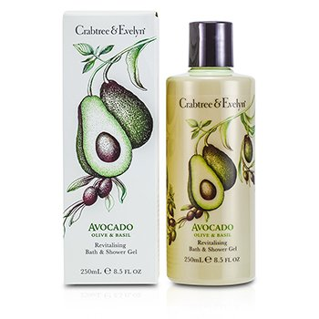 Crabtree & EvelynAvocado, Olive & Basil Revitalising Bath & Shower Gel 250ml/8.5oz