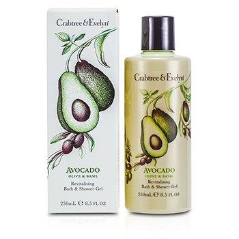 Crabtree & Evelyn Avocado, Olive & Basil Revitalising Bath & Shower Gel  250ml/8.5oz