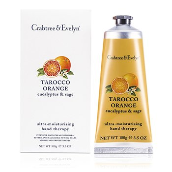 Crabtree & EvelynTarocco Orange, Eucalyptus & Sage Terapia de Manos Ultra Hidratante 100g/3.5oz