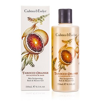 Crabtree & EvelynTarocco Orange, Eucalyptus & Sage Gel de Ba�o & Ducha Vigorizante de Piel 250ml/8.5oz