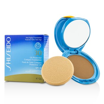 Shiseido Base Compacta Protectora UV SPF 30 (Estuche+Repuesto) - # Dark Beige  12g/0.42oz