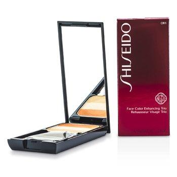 Shiseido Face Color Enhancing Trio - Pewarna Mata - OR1 Peach  7g/0.24oz