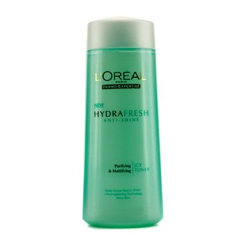 L'OrealDermo-Expertise Hydrafresh Anti-Shine Purifying & Mattifying Icy Toner (For Shiny Skin) 200ml/6.7oz