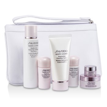 ShiseidoWhite Lucent Set: Cleansing Foam 50ml+Softener Enriched 75ml+Emulsion SPF15 15ml+Emulsion 15ml+Cream 18ml+Eye Cream 2.5ml+torbica 6pcs+1bag