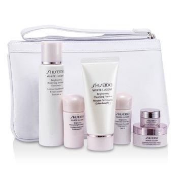 ShiseidoSet White Lucent: Espuma Limpiadora 50ml+Suavizante Enriquecido 75ml+Emulsi�n SPF15 15ml+Emulsi�n 15ml+Crema 18ml+Crema de Ojos 2.5ml+Bolso 6pcs+1bag