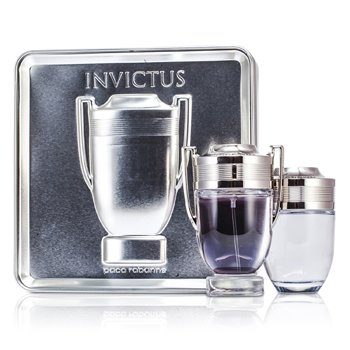 Paco Rabanne Invictus Coffret: Eau De Toilette Spray 100ml/ 3.4oz + Loci�n Para Despu�s de Afeitar 100ml/3.4oz  2pcs