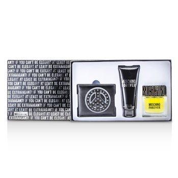 Moschino Forever Coffret: Eau De Toilette Spray 50ml/1.7oz + Bath & Shower Gel 100ml/3.4oz + Wallet 3pcs