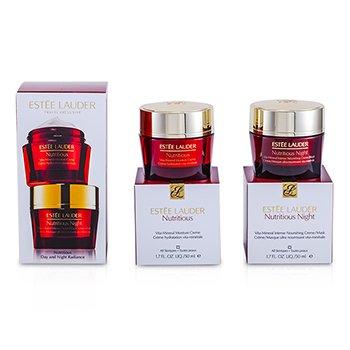 Estee LauderSet Nutritious Day & Night Radiance: Vita-Mineral Crema Hidratante 50ml + Crema/M�scara Nutritiva 50ml 2pcs