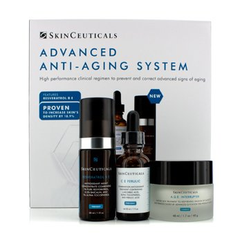 Skin CeuticalsAdvanced Anti-Aging System: C E Ferulic 30ml/1oz + A.G.E Interrupter 48ml/1.7oz + Resveratrol B E 30ml/1oz 3pcs