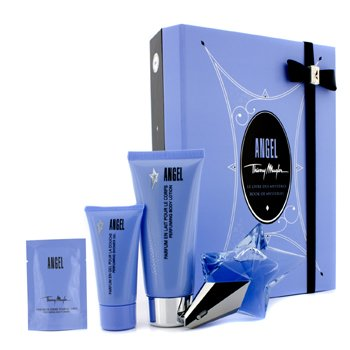 Thierry Mugler Angel Coffret: Eau de Parfum 25ml/0.8oz + Body Lotion 100ml/3.5oz + Shower Gel 30ml/1oz + Body Cream 10ml/0.34oz 4pcs