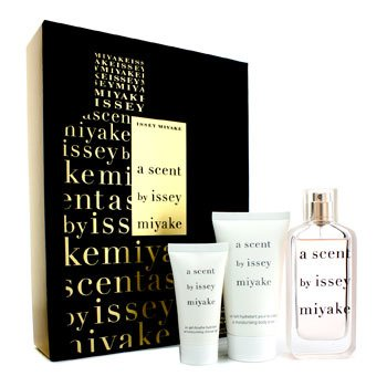 Issey MiyakeA Scent by Issey Miyake Coffret: Eau De Parfum Spray 40ml/1.3oz + Body Lotion 75ml/2.5oz + Shower Cream 30ml/1.3oz 3pcs