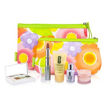 CliniqueTravel set: DDML Plus + CC Cream + Repairwear Eye Cream + Eye Shadow Duo #13 & #07 + Mascara + Lipstick (Tender Heart) + Bag 6pcs+1bag