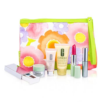 CliniqueSet de Viaje: DDML Plus + Crema CC + Repairwear Crema de Ojos + Sombra de Ojos Duo #38 & #03 + M�scara + Pintalabios (Glazed Berry) + Bolso 6pcs+1bag
