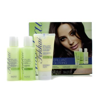 Frederic FekkaiBrilliant Glossing Mini Collection: Shampoo 59ml + Conditioner 59ml + Styling Creme 56g  96367541 3pcs