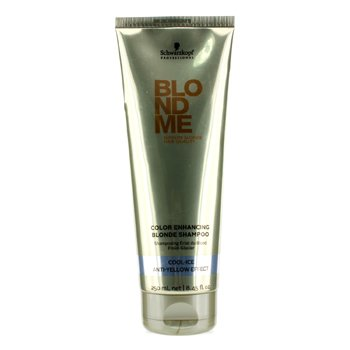 SchwarzkopfBlondme Blonde Champ� Para Rubias Impulsador de Color - Cool Ice (Efecto Anti Amarillo) 250ml/8.45oz