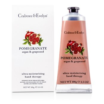 Crabtree & Evelyn Pomegranate, Argan & Grapeseed Ultra-Moisturising Hand Therapy  100g/3.5oz
