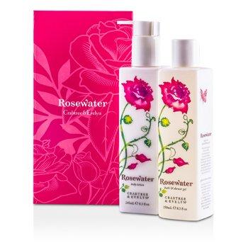 Crabtree & EvelynRosewater Perfect Pair: Bath & Shower Gel 250ml + Body Lotion 245ml 2pcs