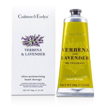 Crabtree & Evelyn Verbena & Lavender Terapia de Manos Ultra Hidratante  100g/3.5oz