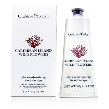 Crabtree & EvelynCaribbean Island Wild Flowers Terapia de Manos Ultra Hidratante 100g/3.5oz