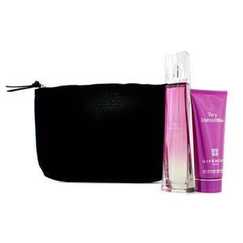 GivenchyVery Irresistible Coffret: Eau De Toilette Spray 75ml/2.5oz + Body Veil 100ml/3.4oz + Pouch 2pcs+1pouch