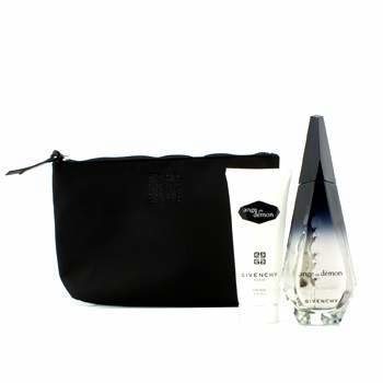 GivenchyAnge Ou Demon Coffret: Eau De Parfum Spray 100ml/3.4oz + Body Veil 100ml/3.3oz + Pouch 2pcs+1pouch