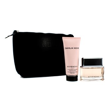 GivenchyDahlia Noir Coffret: Eau De Parfum Spray 50ml/1.7oz + Body Milk 100ml/3.3oz + Black Pouch 2pcs+1pouch