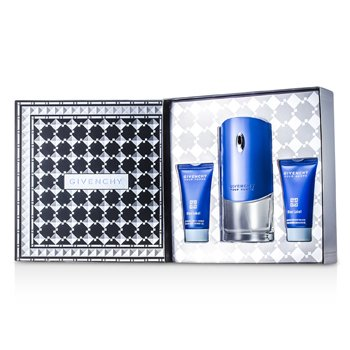 GivenchyBlue Label Coffret: Eau De Toilette Spray 100ml/3.3oz + Shower Gel 50ml/1.7oz + After Shave Balm 50ml/1.7oz 3pcs