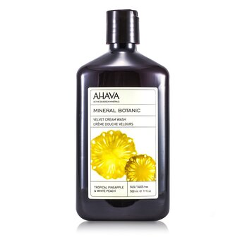 AhavaMineral Botanic Velvet Jab�n Cremoso - Tropical Pineapple & White Peach 500ml/17oz