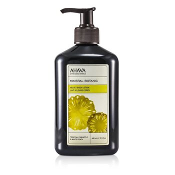 AhavaMineral Botanic Velvet Loci�n Corporal - Tropical Pineapple & White Peach 400ml/13.5oz