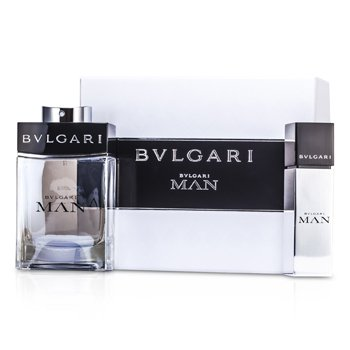 BvlgariMan Coffret: Eau De Toilette Spray 100ml/3.4oz + Eau De Toilette Travel Spray 15ml/0.5oz 2pcs