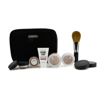 Bare EscentualsBareMinerals Get Started Complexion Kit For Flawless Skin - # Medium Beige 6pcs+1clutch