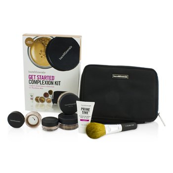 BareMinerals BareMinerals Get Started Complexion Kit For Flawless Skin - # Golden Tan 6pcs+1clutch