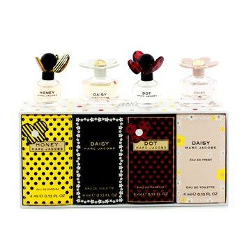 Marc JacobsMiniature Coffret: Dot + Daisy + Daisy Eau So Fresh + Honey 4x4ml/0.13oz