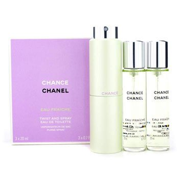 ChanelSpray Chance Eau Fraiche Twist & Spray Eau De Toilette 3x20ml/0.7oz