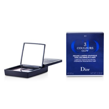 Christian Dior3 Couleurs Glow Luminous Graphic Eye Palette - # 951 Rosewood Glow 5.5g/0.19oz