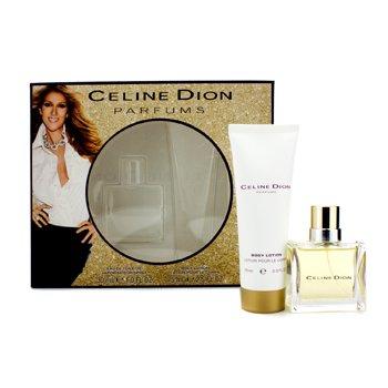 Celine DionCeline Dion Coffret: toaletna voda u spreju30ml/1oz + losion za tijelo 75ml/2.5oz 2pcs
