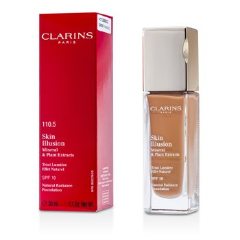 Clarins Podk�ad z ochronnym filtrem Skin Illusion Natural Radiance Foundation SPF 10 - # 110.5 Almond  30ml/1.1oz