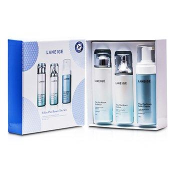 LaneigeWhite Plus Renew Trio Set: Skin Refiner + Emulsion + Bubble Cleanser 3pcs