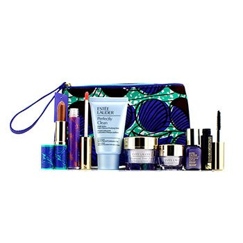 Estee LauderTravel Set: Perfectly Clean + Advanced Time Zone Day Cream + Eye Cream + Perfectionist [CP+R] + Mascara + Lipstick #86 + Lipgloss #20 + Bag 7pcs+1bag