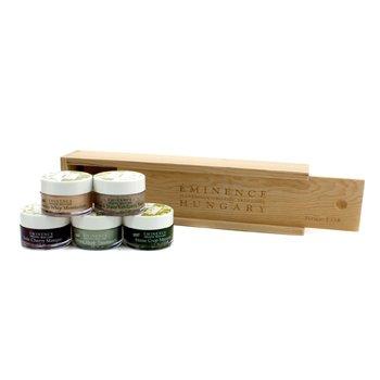 Travel SetStarter Set (Oily Skin): Rosehip Moisturizer + Rosehip Masque + Sour Cherry Masque + Stone Crop Masque + Seven Herb Treatment 5pcs